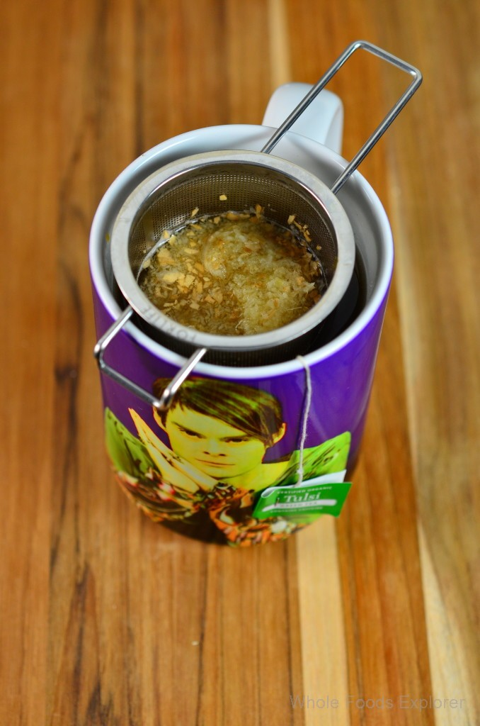Ginger Pulp Cube in Hot Tea